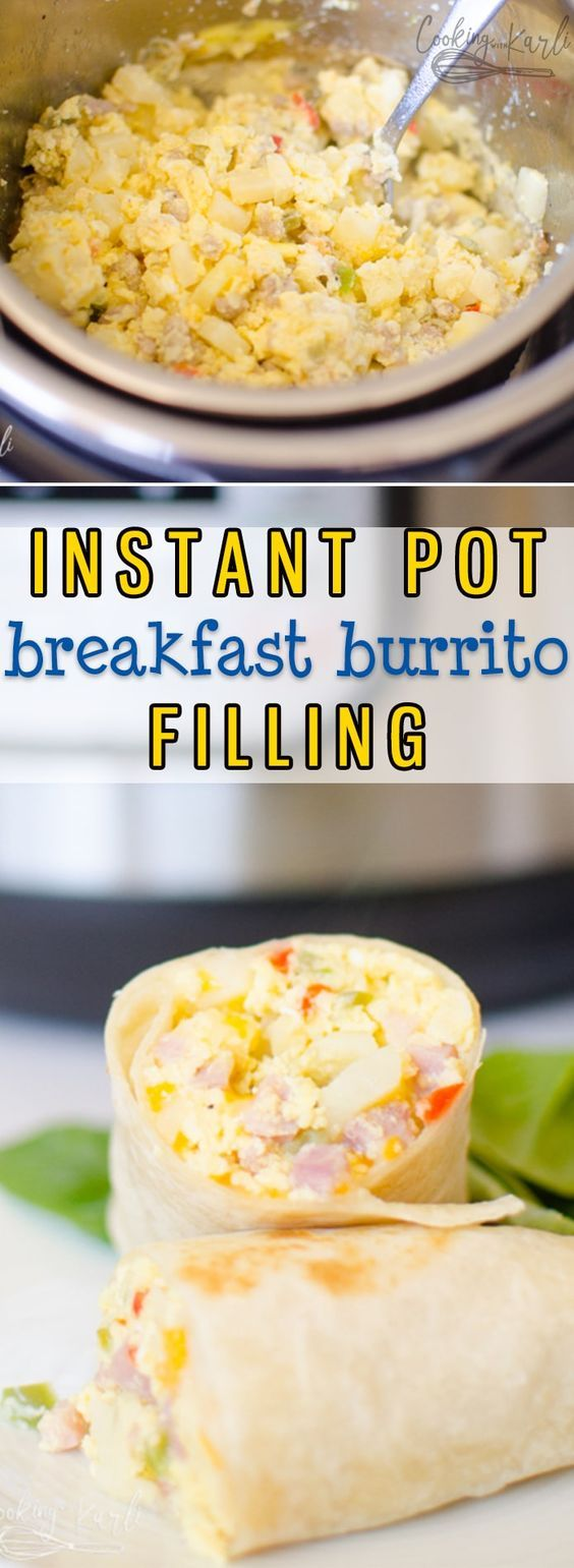 Instant Pot Breakfast Burritos are an easy way to make breakfast burritos for a …