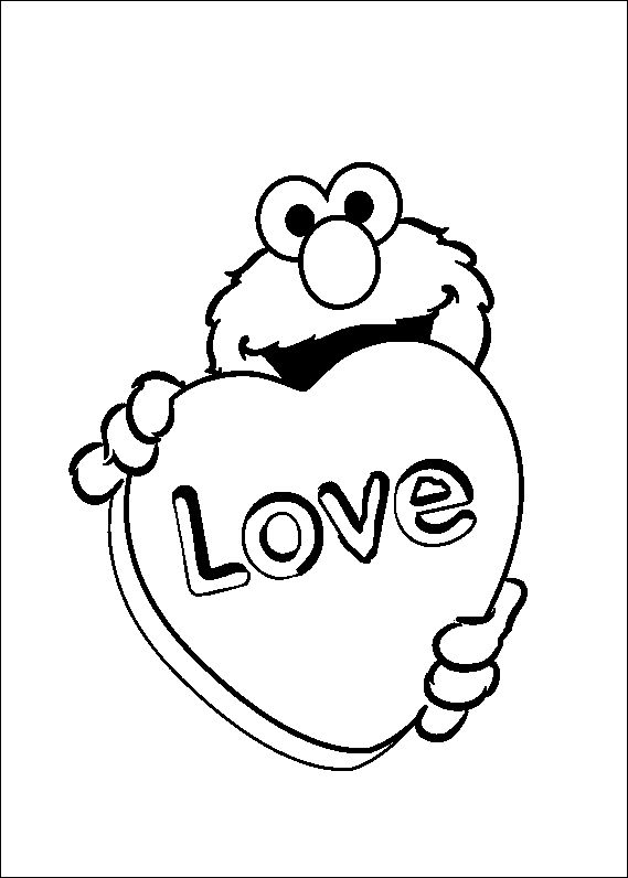 17 best images about sesame street coloring pages on for Elmo and cookie monster coloring pages to print