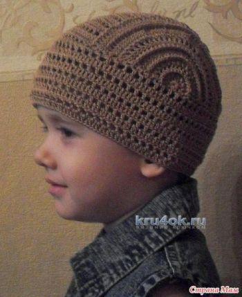 Бандана для мальчика — работа Татьяны. Вязание крючком.