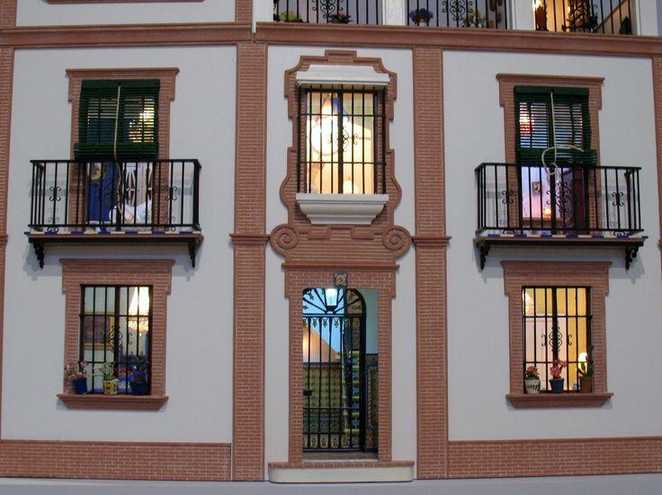 Casa popular Andaluza fachada: detalle