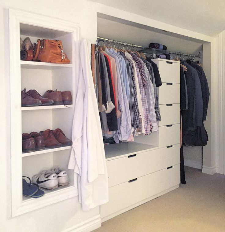 how to build closet shelves and drawers