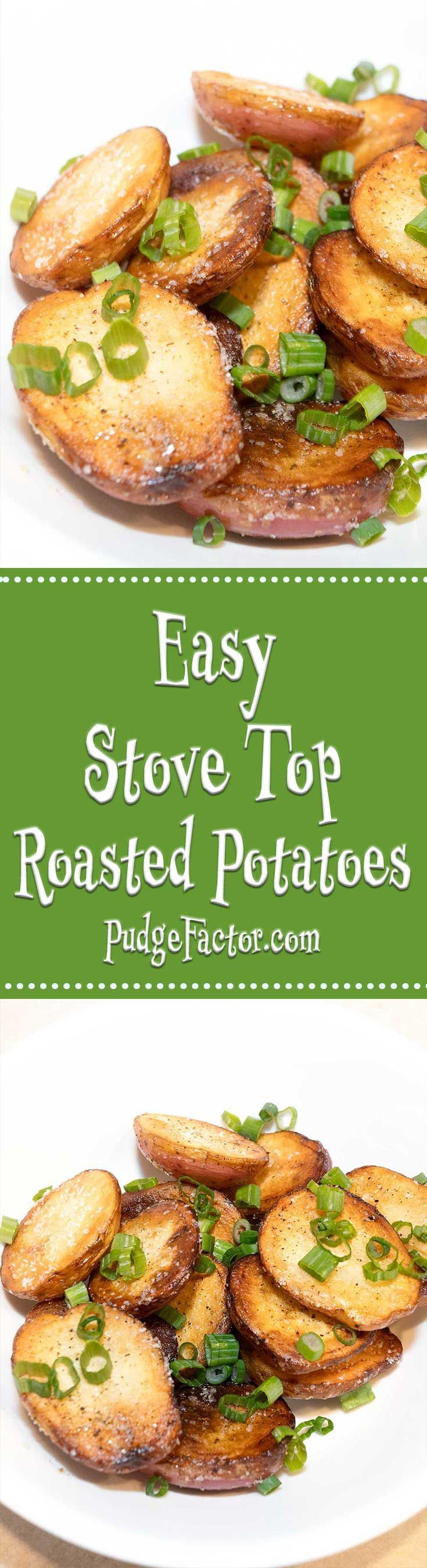 These roasted potatoes are crispy on the outside and creamy on the inside?.Now you can make these easy roasted potatoes on your stove top. via /c2king/