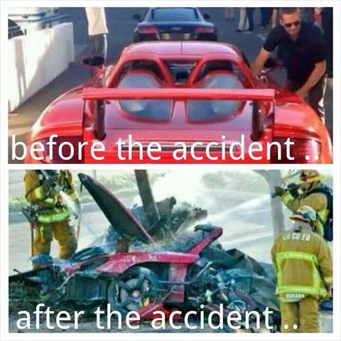paul walker car crash photo | Paul Walker – Before and After the Tragic Car Crash (Photos ...