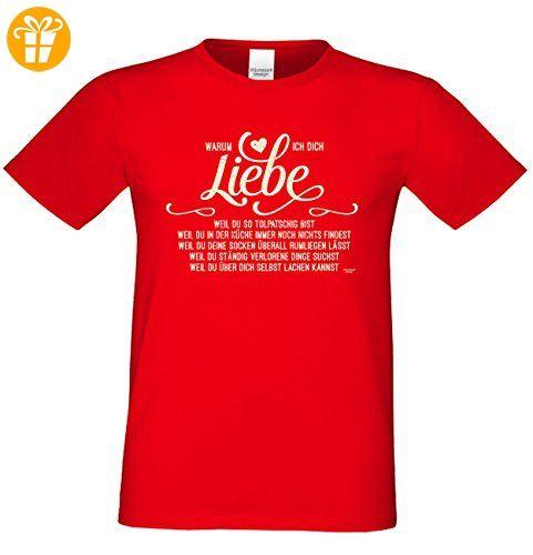 Als Liebesbeweis / T-Shirt Funshirt für Männer zum Valentin / Geburtstag / Vatertag Warum ich Dich liebe Farbe: rot Gr: L (*Partner-Link)