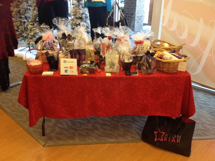 Avon Gift Basket Display, Christmas 2014.