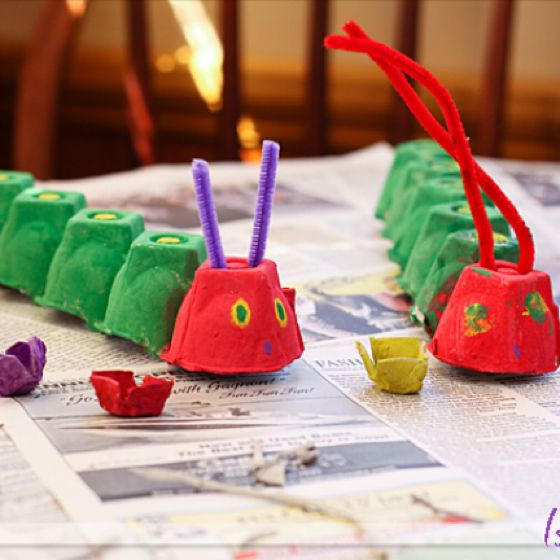 The Very Hungry Caterpillar Project... Might be trying this project when we visit grandma & grandpa :)