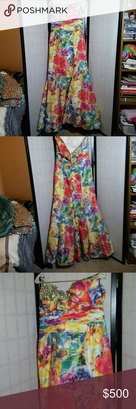 Multi Color Prom Dress Brand new Tony Flow is La Gala. I will take 460 on 🅿️🅿️ Tony Bowls Dresses Prom