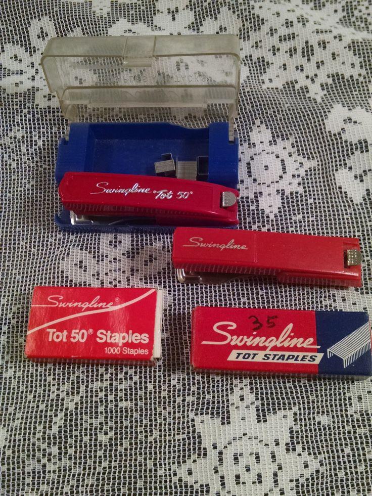 Vintage Swingline Stapler, Swingline Stapler, Swingline, Mini Stapler, Mini Office Supplies, Stapler, Office Supplies, Office Decor by Vintagepetalpushers on Etsy
