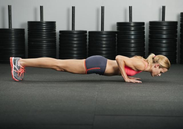 The push-up exercise is a great upper body and core strength exercise that when done properly uses muscles in the chest, shoulders, triceps, back, abs and even the legs.