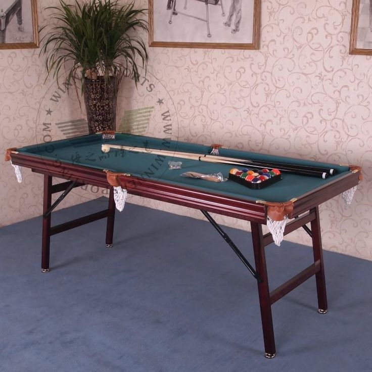 1000 ideas about folding pool table on pinterest 7 foot - Small pool table ...