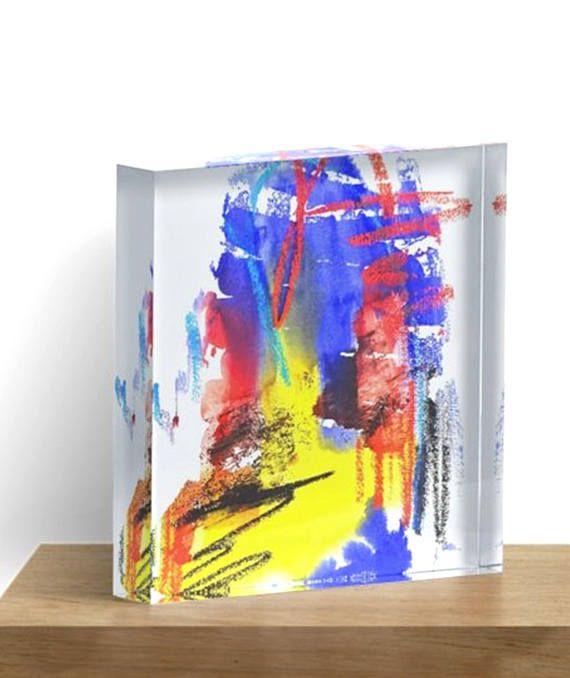 """Kunst im Acryl Block """"Good Night Dear Colours"""" 15 nummerierte und signierte Exemplare"""