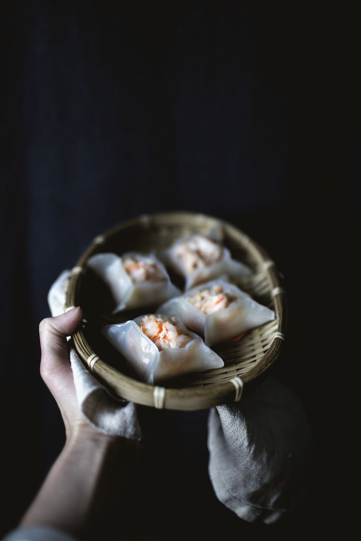 DIM SUM MONTH:  Crystal shrimp dumplings with shrimp oil mayonnaise