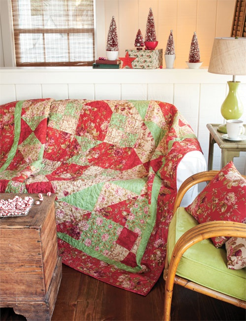 Christmas Dream by Linda Hahn featuring fabrics from Lansdowne Road by Robyn Pandolph as seen in Simple Quilts & Sewing Winter 2012.