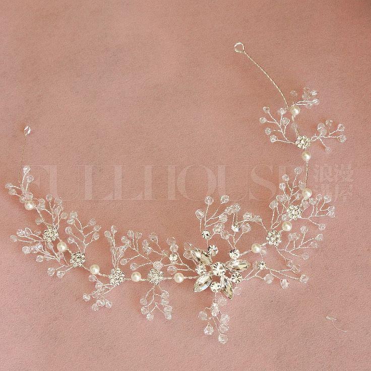 Ручной белый кристаллический горный хрусталь тиару новые мягкие аксессуары тост одежды, декоративные аксессуары для волос ювелирные изделия визажист важно женские - Taobao