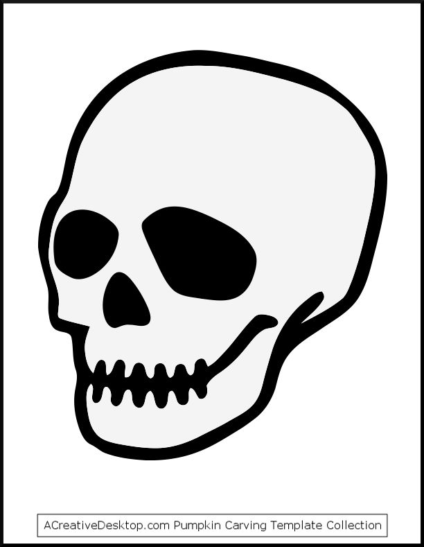 Intrepid image intended for skull template printable