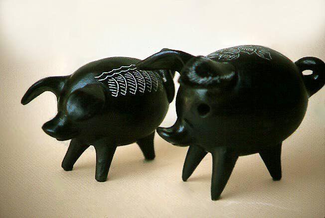 Artesania Chilena Figuras de ceramica Quinchamali