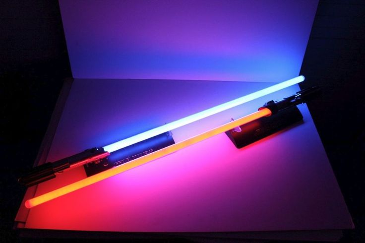Master Replicas Lightsabers Luke Skywalker & Darth Vader, with Sound Effects