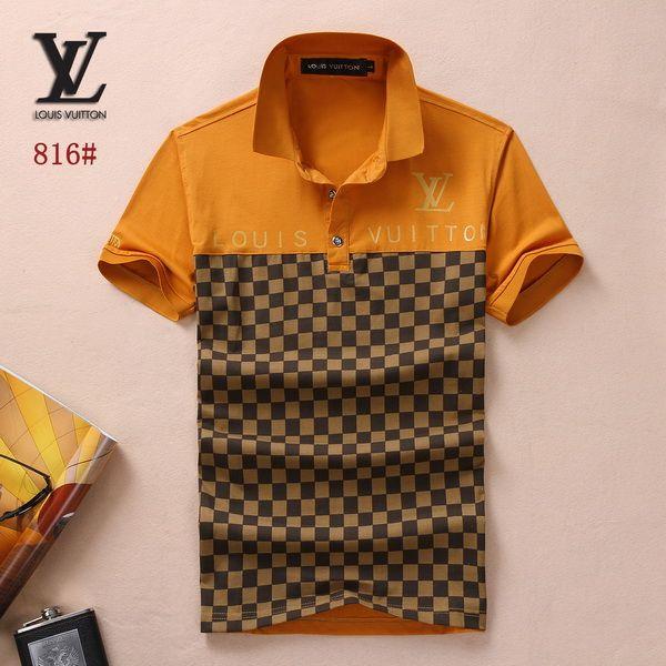 Louis Vuitton POLO shirts men-LV61811A