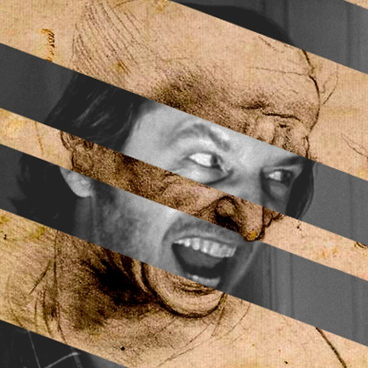 "Leonardo da Vinci's ""Head for The Battle of Anghiari"" & Jack Nicholson in Shining"