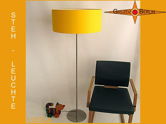 Floor lamp LUCILA h155 cm shining sun yellow
