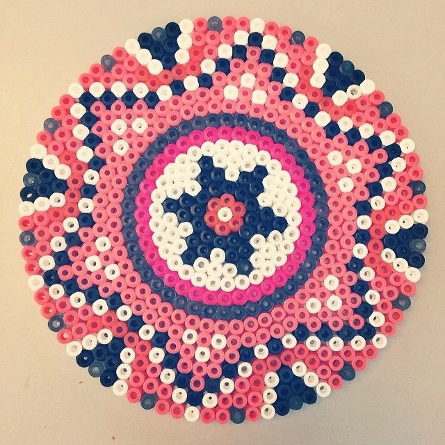 Mandala (inspired by Sara Seir) hama beads by tinajacoby