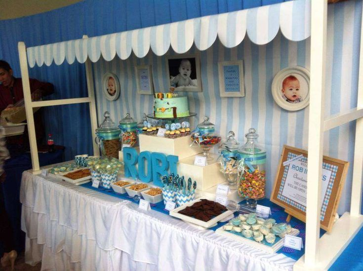 Baby Boy Blue Baptism Party Ideas