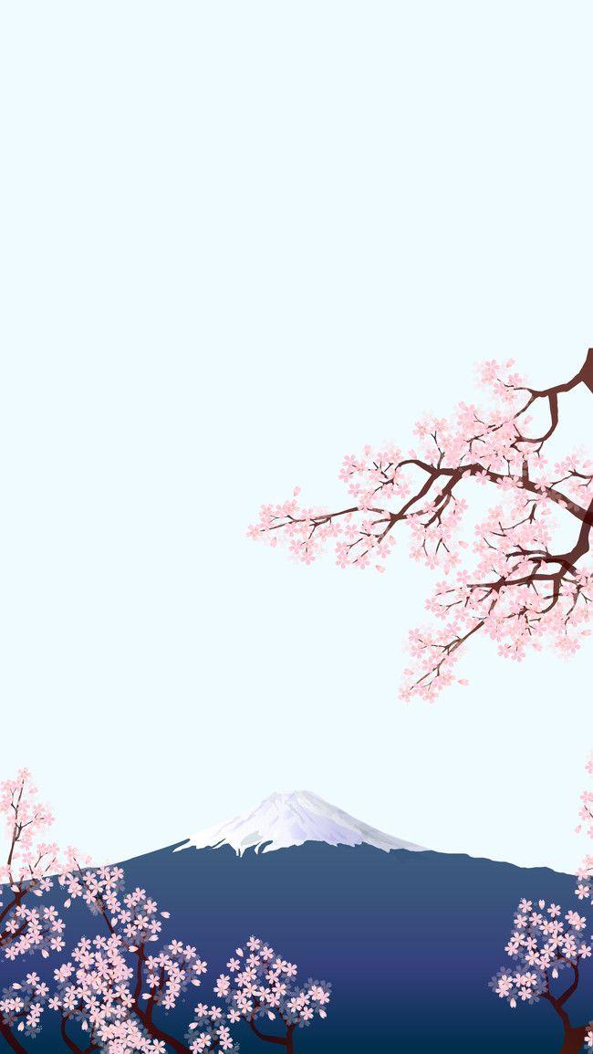 Mt Fuji Cherry Blossom Tourism Background Japanese Background Japanese Art Prints Blossoms Art