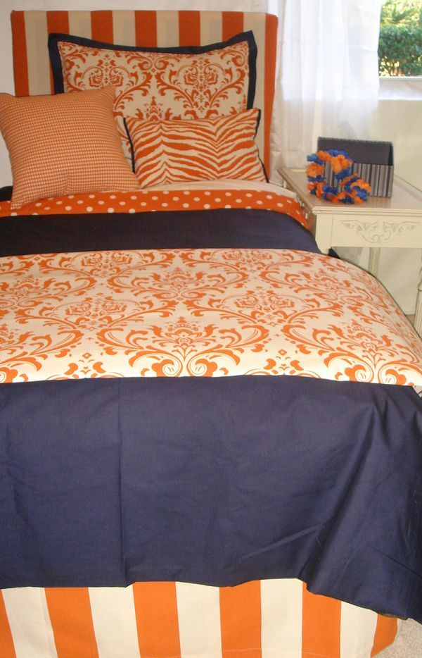 This would be so cute for Alex's college bedroom. Auburn but girlie!