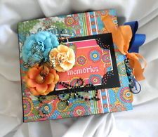 TWAG *Becky* Vintage Bohemian Flower Premade Scrapbook Album Paper Pecing
