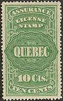 Première série des timbres pour les assurances du Québec.