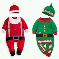 Wish   Baby Kid Boys Christmas Suits Xmas Santas Clothes Jumpsuits + Hat Cosplay Outfit