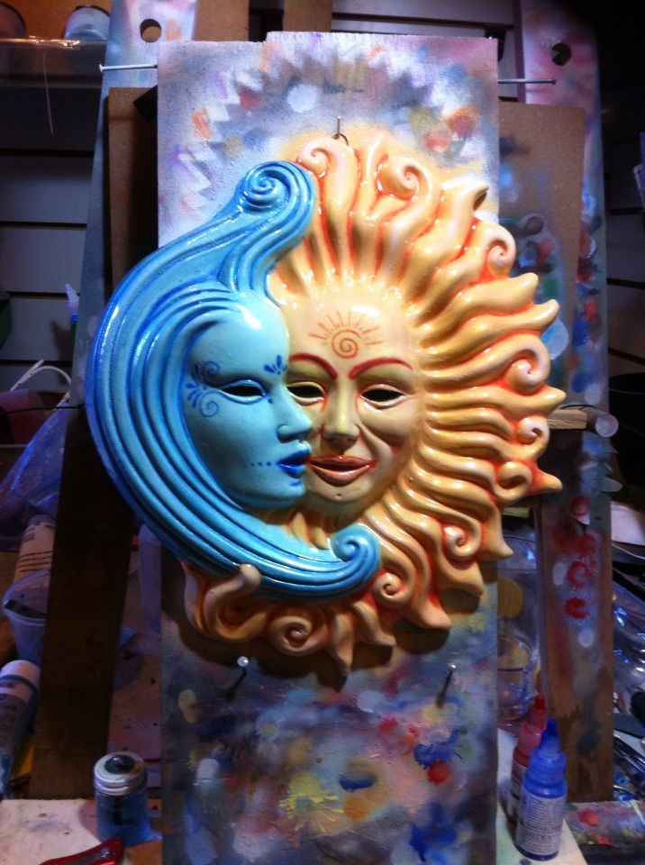 Sole luna Frart Aerografia
