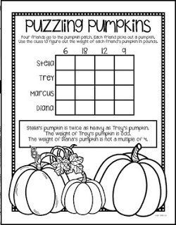 """FREE MATH LESSON - """"{FREE!} Halloween Brain Busters!"""" - Go to The Best of Teacher Entrepreneurs for this and hundreds of free lessons. 3rd - 5th Grade #FreeLesson #Math #Halloween http://www.thebestofteacherentrepreneurs.org/2015/10/free-math-lesson-free-halloween-brain.html"""