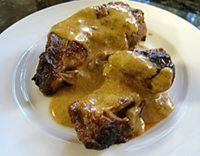 Boneless country style pork ribs are delicious cooked in the slow cooker with paprika, onions, and sour cream. Add the sour cream to the crockpot country style pork ribs just before they're done.