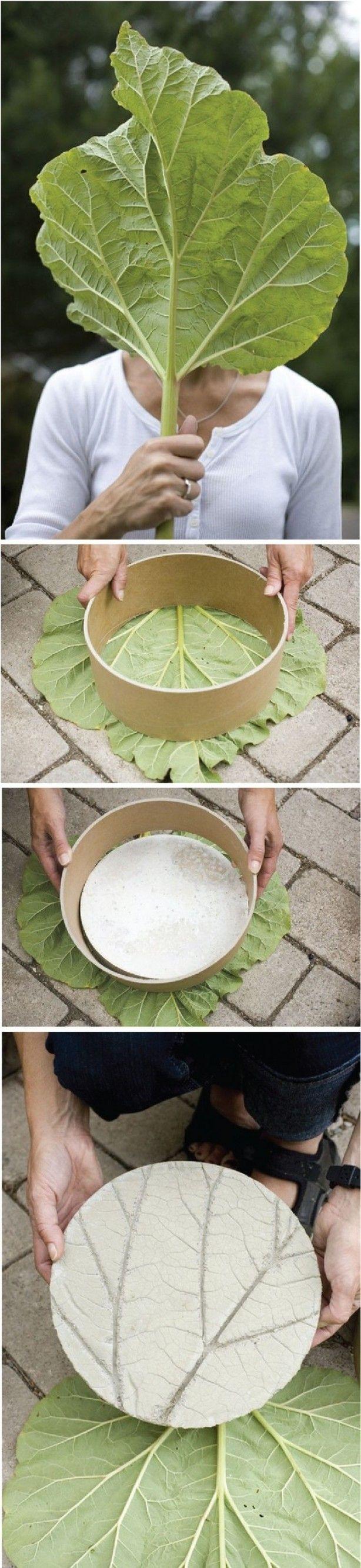Leuk idee om ronde stap-stenen te maken.