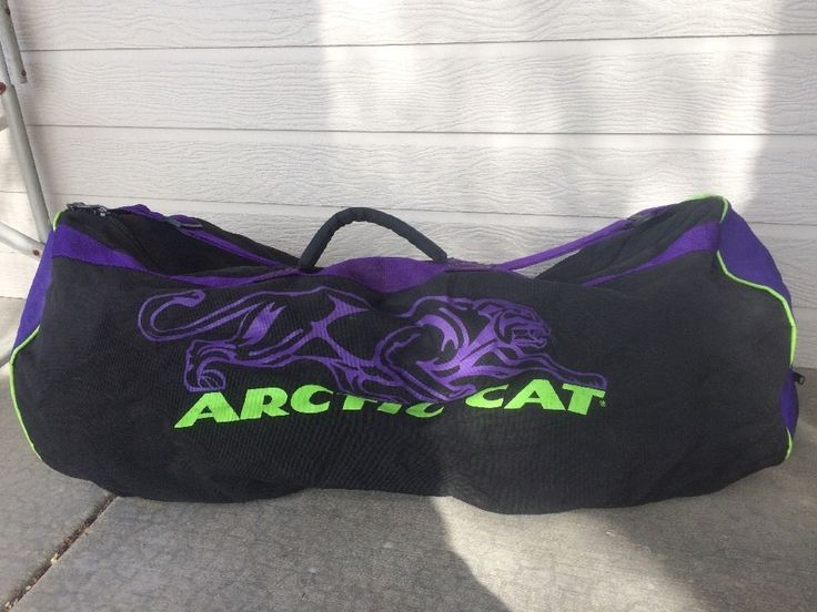 "Vintage Arctic Cat Large Duffle Snowmobile Snow Gear Bag 34"" x 15""  