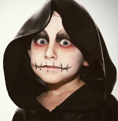 Trucco del viso per Carnevale per bambini da zombie