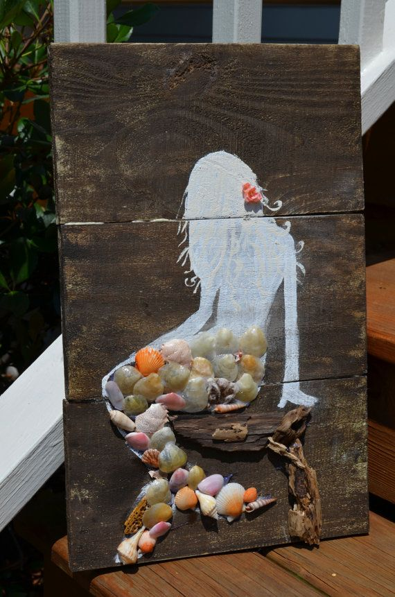 Vintage Wooden Mermaid Sign by Simplebeachsigns on Etsy