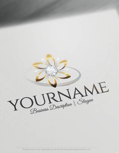 Create a logo Free -Free Logo Maker -Diamond Flower Logo Templates Ready madeOnline logo template Decorated with an image of Decorated with Diamond Flower Logo image.This professional logos excellent for branding fashion designer, dresses designer, Jewelry store, jeweler, jewelry designeretc.How to design your logo online? 1- Create a logo with our free logo maker tool -Change