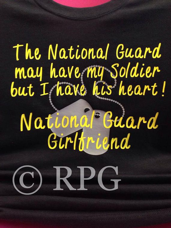 National Guard Girlfriend Wife Fiance T-shirt by RPGIFTS on Etsy