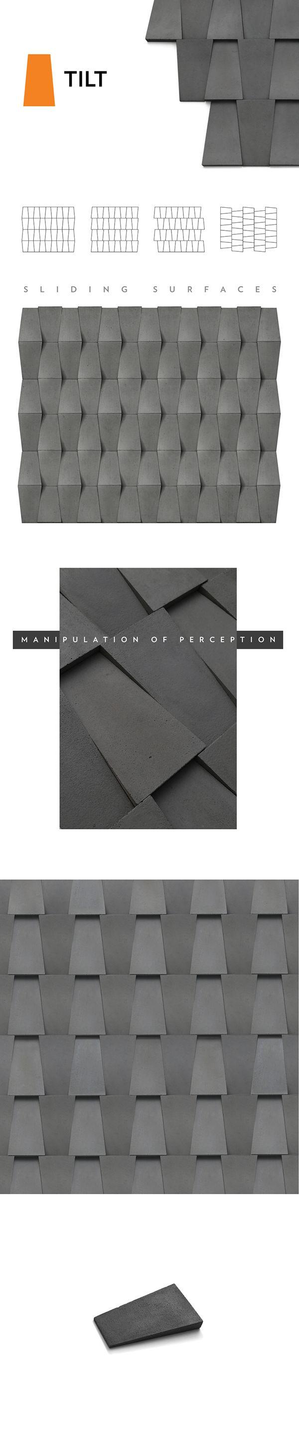 TILT- Simplicity of contrast effect.- Manipulation of perception.- Sliding surfaces.25 x 15 cm.