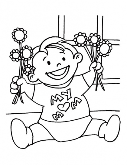 This is my little gift for my dear Mom coloring page | Download Free This is my little gift for my dear Mom coloring page for kids | Best Coloring Pages