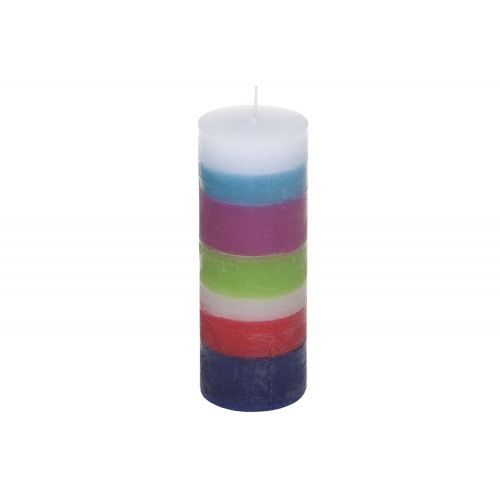 Multicolour paraffin candle. Made by Neo-Spiro.