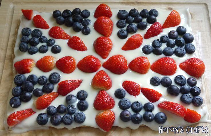 British flag fruit pizza? | British stuff | Pinterest