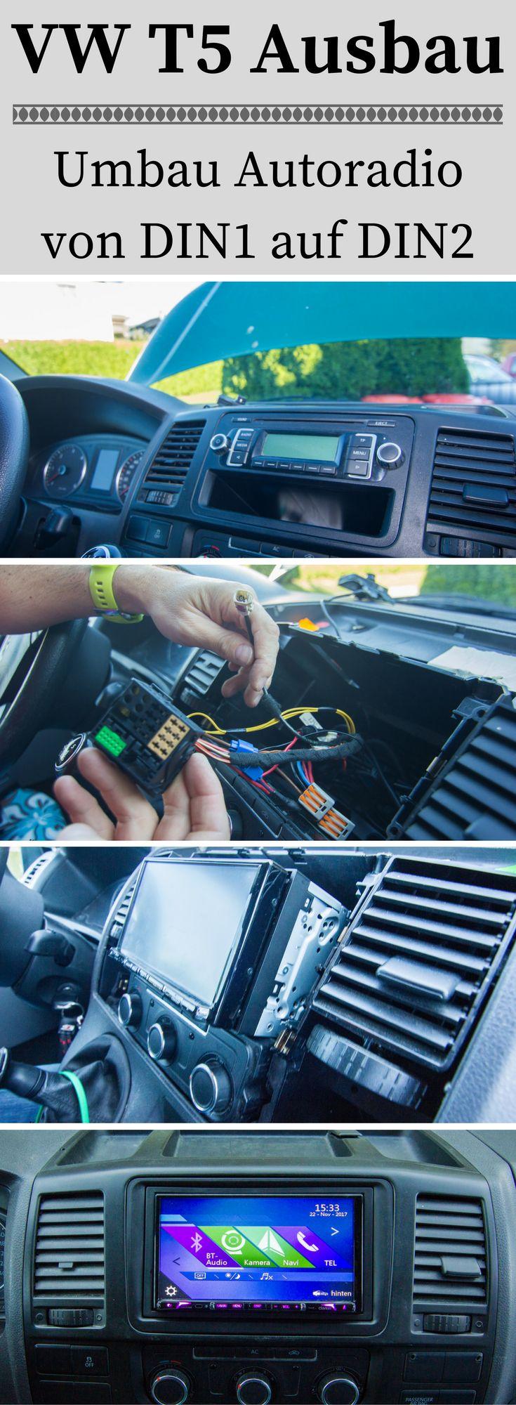 Hier findest du eine Schritt für Schritt Anleitung wie du in deinem VW T5 Transporter einen DIN2 Autoradio einbaust.