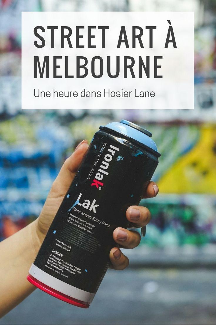Passez une heure au coeur du street art à Melbourne, un arc en ciel de couleur qui vous laissera sans voix !
