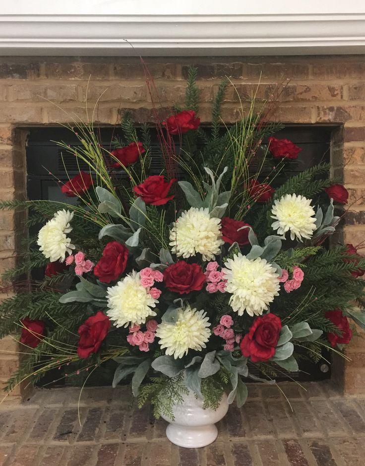 Valentine's floral arrangement/ I love my church! ❤