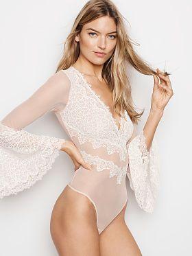 3a3b9e27901ef Victoria's Secret Chantilly Lace Long Sleeve Teddy | I Am Woman, Hear Me❤ |  Bridal lingerie, Chantilly lace, Victoria secret lingerie