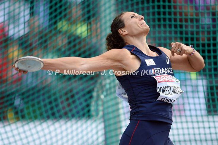 Mélina ROBERT-MICHON Médaille Argent Championnat Europe Athlétisme Zurich 2014 Lancer du Disque
