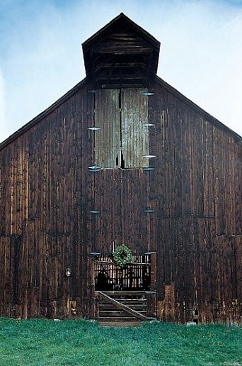 """Vance Barn    The barn was built by the homesteading Vance family. """"My family and I ride out to it on horseback for dinner,"""" says the designer."""